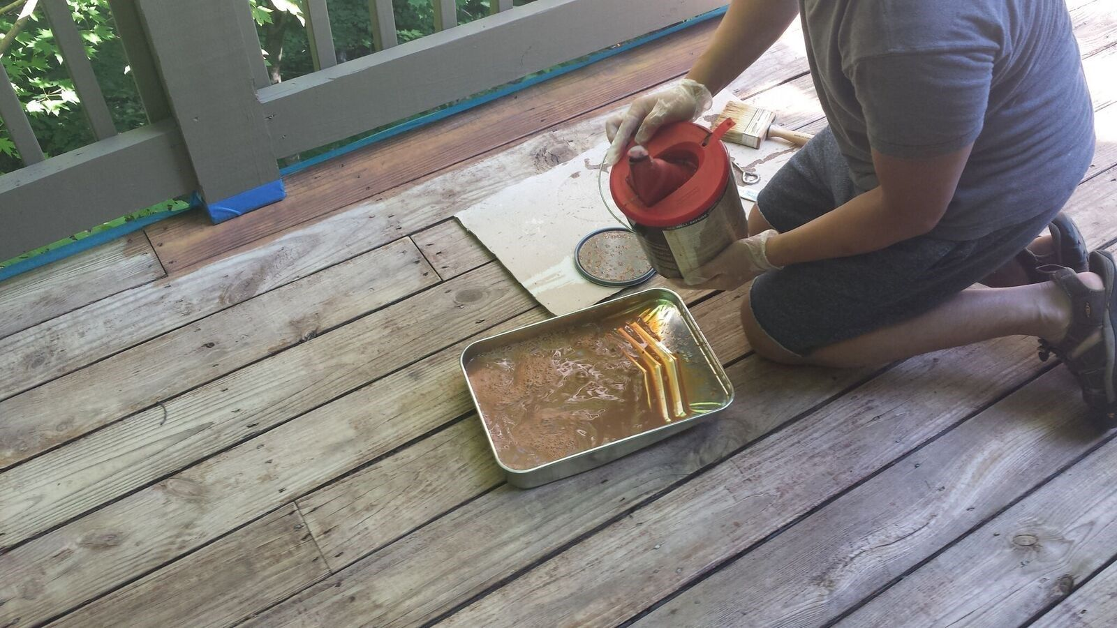 Nice Pour Stain Into A Paint How To Stain A Deck Olympic Deck Cleaner Msds Olympic Deck Cleaner Lowes houzz 01 Olympic Deck Cleaner