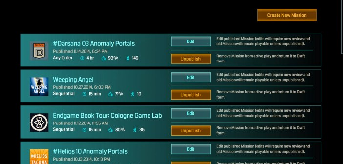 Ingress Missions Creation Open for all Verified L9+ Agents