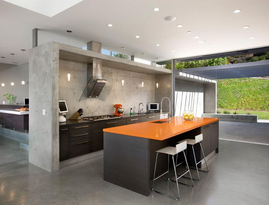 concrete kitchen design ideas concrete kitchen floor modern concrete kitchen