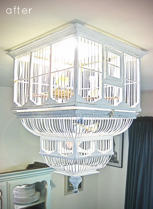 la photo du jour le luminaire cage oiseaux d conome. Black Bedroom Furniture Sets. Home Design Ideas