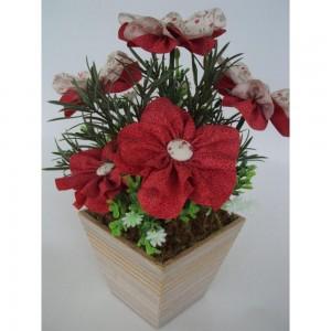 Vasos de Flores em Tecido