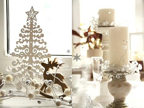 decoración en blanco para navidad