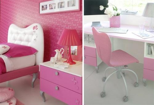 Rosa y Barbie para el Dormitorio de las Niñas | Decoracion.