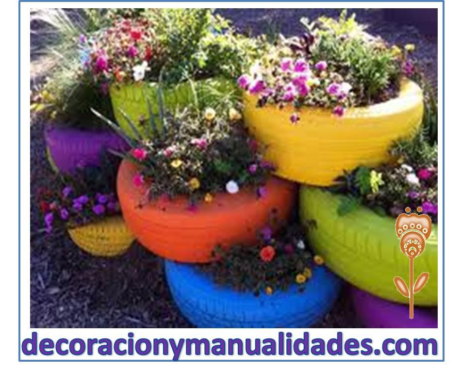 Como hacer macetas con llantas recicladas paso a paso for Decoracion de jardin con llantas