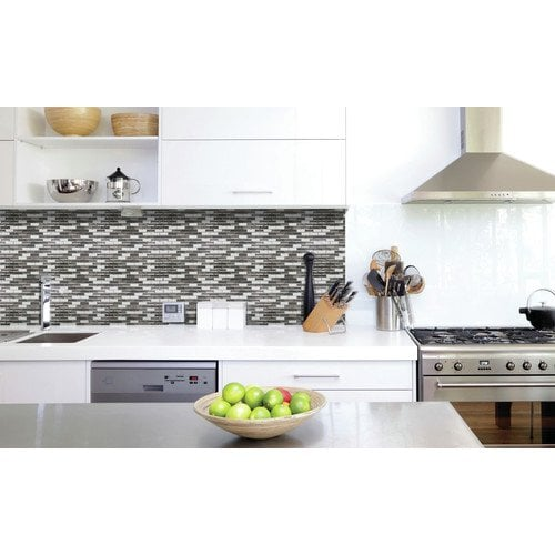 these mosaic peel and stick glass tiles below great for a fast easy