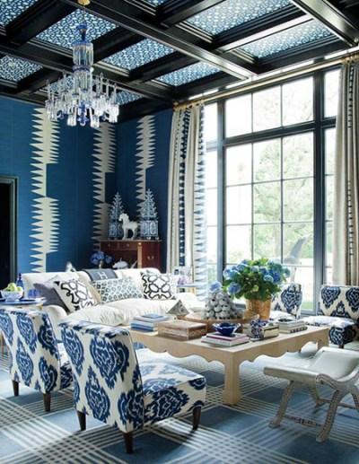 Wallpapered Ceilings: 10 Fabulous Design Ideas