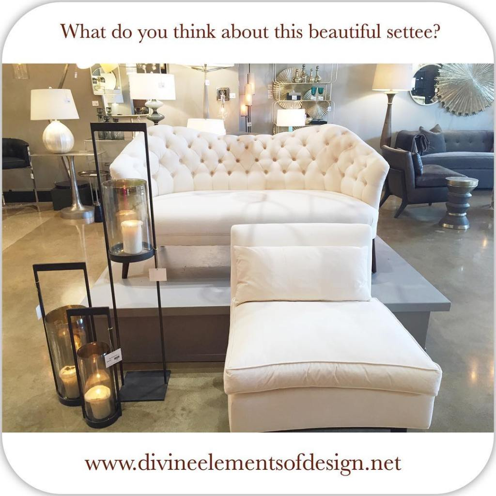 We absolutely love this beautiful white settee on display athellip