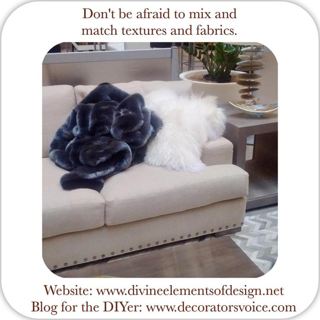 We love using different fabrics in our decor Textured pillowshellip