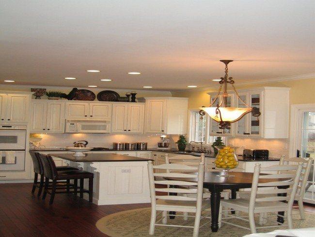 spacious kitchen table lighting ideas n