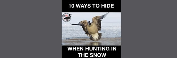 10 WAYS TO HIDE WHEN HUNTING IN THE SNOW