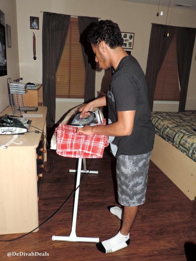 son ironing