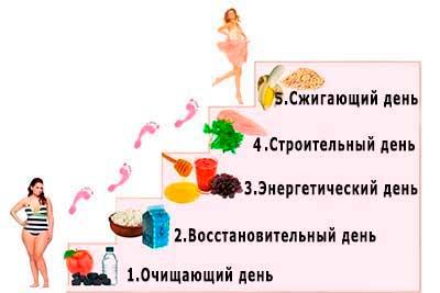 диета лесенка меню