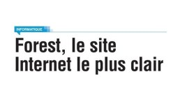 forest.irisnet.be : le site internet le plus clair