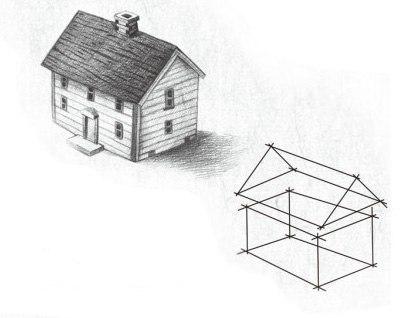 Haus selber zeichnen anleitung dekoking for Fachwerkhaus skizze