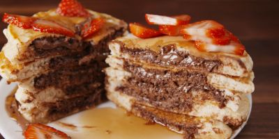 Best Nutella Stuffed Pancakes - How to Make Nutella Stuffed Pancakes