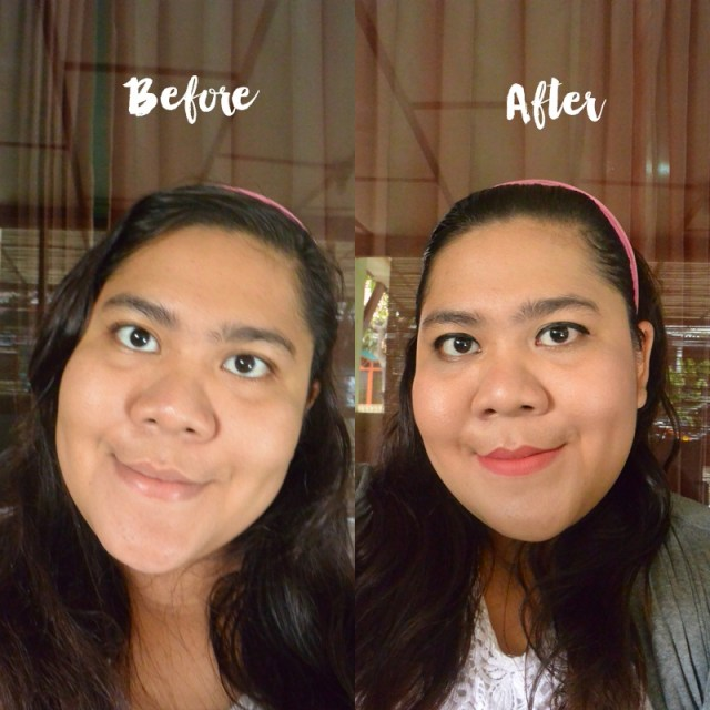 before after marina smooth and glow UV