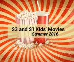 Penn Cinema, Regal and Cinemark: $3 and $1 Summer Kids' Movies 2016
