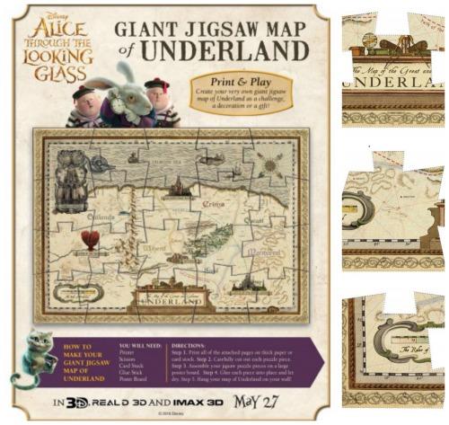 printable map of wonderland jigsaw puzzle