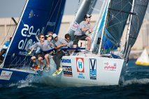 EFG Bank Sailing Arabia The Tour 2016. Dubai. UAE Pictures of the In-Port practise race prior to the race start later this week. Image licensed to Lloyd Images
