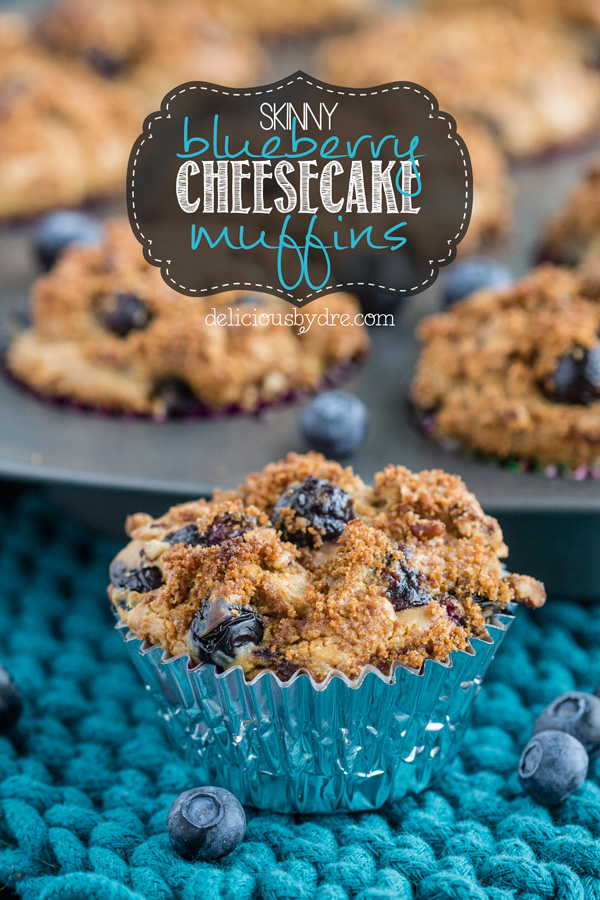 skinny blueberry cheesecake muffins