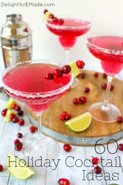60 Amazing Holiday Cocktail Ideas - Delightful E Made