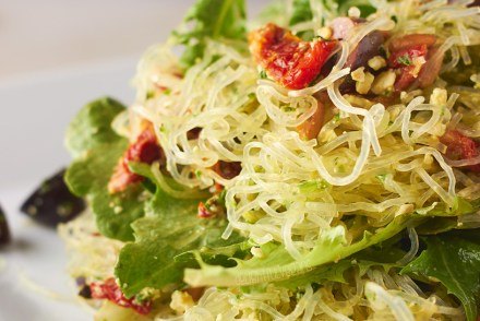 Pesto Kelp Noodle Salad