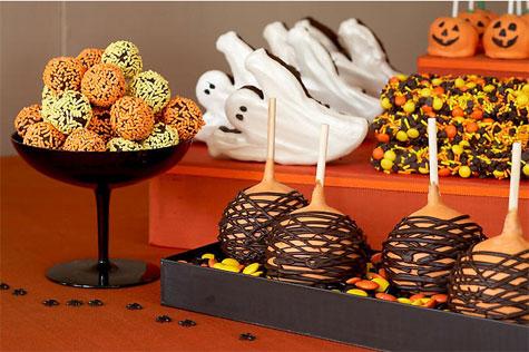 tendencia regaliz postres piruletas halloween estilo dulces Decoración de interiores colores chocolate carmelos buffets
