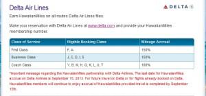 can not earn hawaiianmiles flying delta anymore