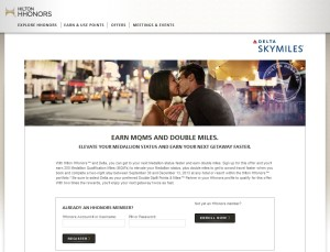 earn delta mqms from hilton stays