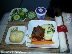 steak dinner delta 1st class delta points blog