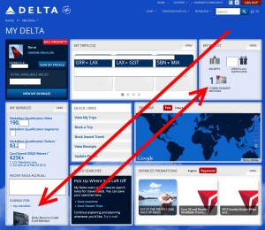 what to see on my delta delta reserve card member