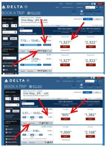 jfk to lax nonstop vs connect flat bed vs 1st class delta points blog