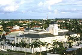 The United States Embassy in Guyana where the American Drug Enforcement Agency's (DEA) office is based.