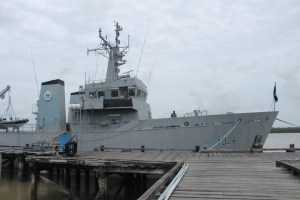 The Guyana Defence Force's Coast Guard vessel, GDFS Essequibo.