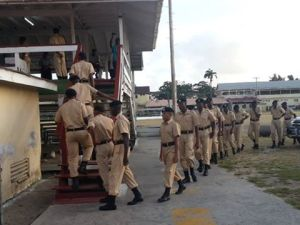 Several members of the Guyana Police Force going to vote at the Police Force Sports Club, Eve Leary.