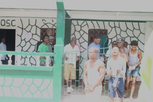 FLASH BACK: Several prisoners leaving the Guyana Prison's Sports Club after detailing their grievances to Public Security Minister, Khemraj Ramjattan and Minister of State, Joseph Harmon after 17 inmates were burnt to death during the country's worst prison riot.