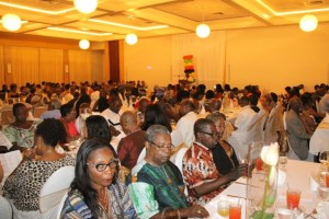 A section of the attendees at the African Guyanese Awards Ceremony that was held on Monday, May 24, 2016 at the Pegasus Hotel.