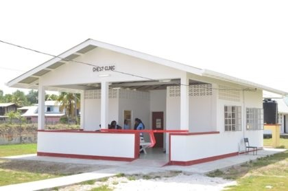 The National Tuberculosis Programme's chest clinic at the West Demerara Regional Hospital, Region Three (West Demerara/ Essequibo Islands).