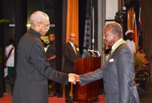 Speaker of the National Assembly, Dr. Barton Scotland, was awarded the Order of Roraima, the second highest National Award of Guyana.