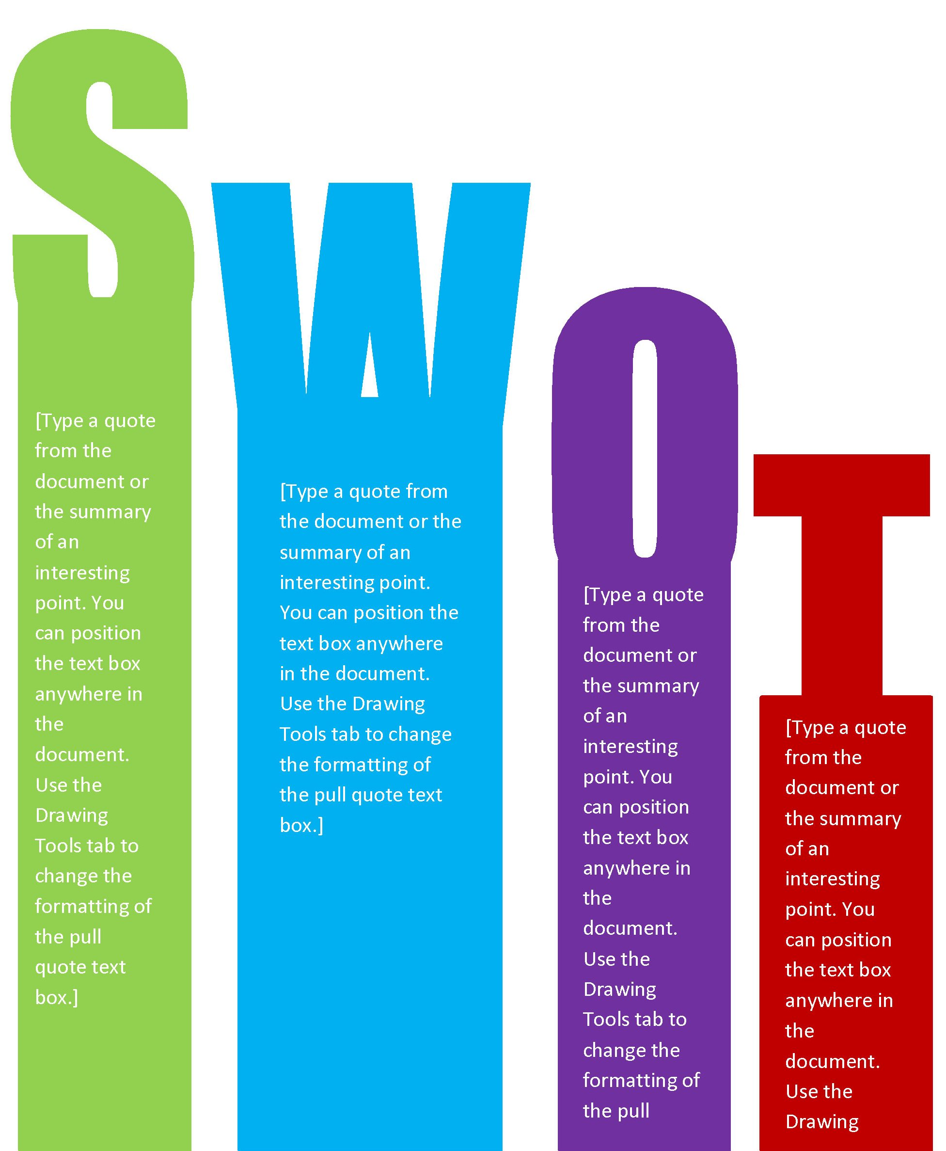 how to make a swot analysis in word