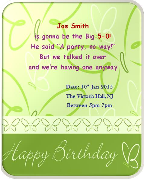50th birthday invitation templates 5