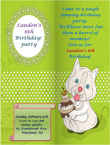 6th Birthday Invitation Templates- 4