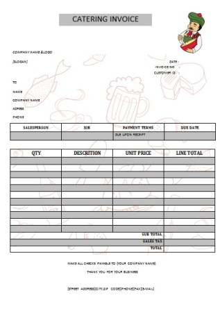 CATERING INVOICE 13