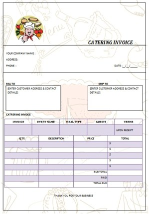 CATERING INVOICE 15