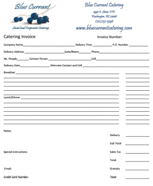 catering invoice template 10