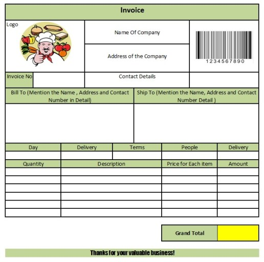 Catering Invoice Template 28