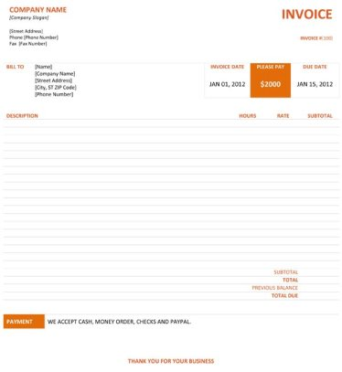 23 graphic design invoice template