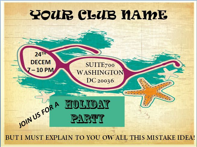 Holiday event flyer template free