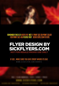 Editable Thanksgiving Flyer PSD