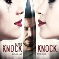 Het mes snijdt aan twee kanten in poster 'Knock Knock'